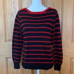 Lauren Ralph Lauren Striped Knot Sweater Lg